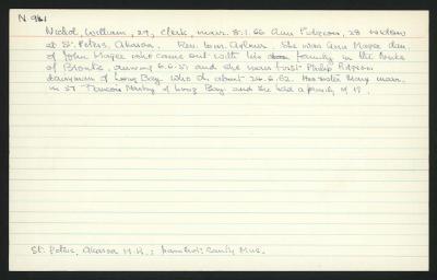 Macdonald Dictionary Record: William Nichol