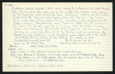 Macdonald Dictionary Record: George Easton Nicholas