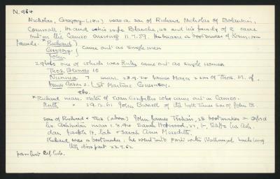 Macdonald Dictionary Record: Gregory Nicholas