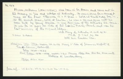 Macdonald Dictionary Record: William Nixon