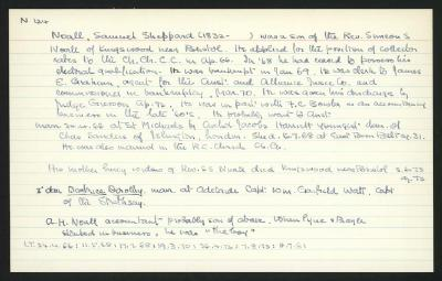 Macdonald Dictionary Record: Samuel Sheppard Noall