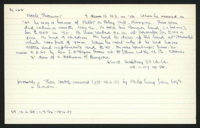 Macdonald Dictionary Record: Thomas Noble