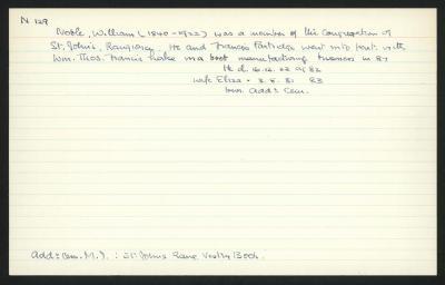 Macdonald Dictionary Record: William Noble
