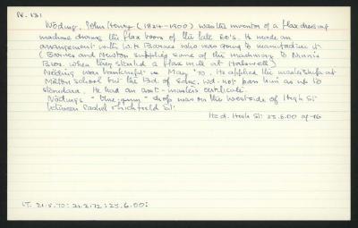 Macdonald Dictionary Record: John Henry Noding