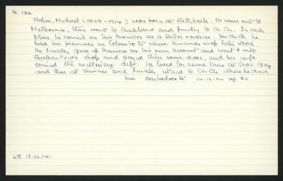Macdonald Dictionary Record: Michael Nolan