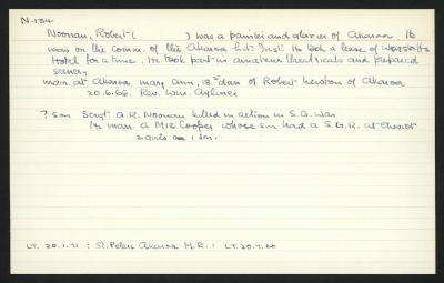 Macdonald Dictionary Record: Robert Noonan