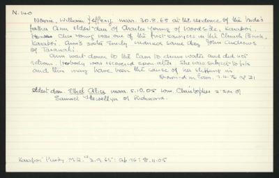 Macdonald Dictionary Record: William Jefferey Norrie