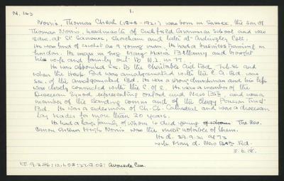 Macdonald Dictionary Record: Thomas Cheal Norris
