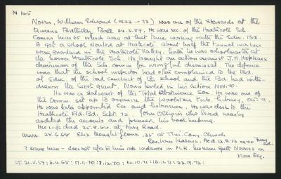 Macdonald Dictionary Record: William Edward Norris