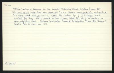 Macdonald Dictionary Record: William Thomas Norris
