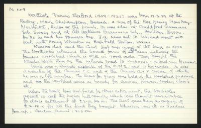 Macdonald Dictionary Record: Francis Stafford Northcote