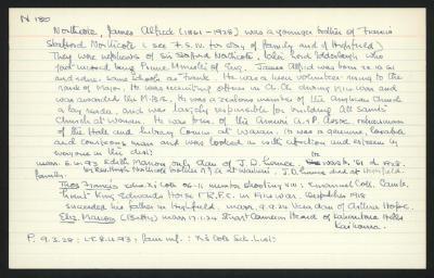 Macdonald Dictionary Record: James Alfred Northcote