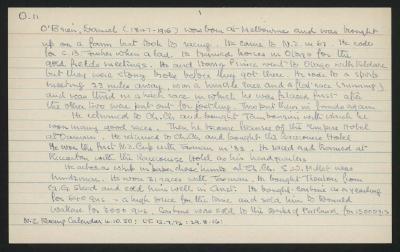 Macdonald Dictionary Record: Daniel O'Brien