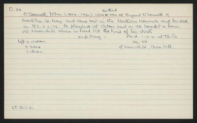Macdonald Dictionary Record: John O'Connell