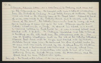 Macdonald Dictionary Record: Edward O'Connor