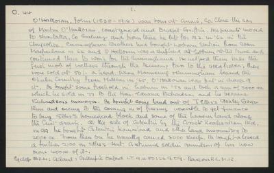 Macdonald Dictionary Record: John O'Halloran