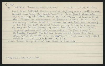 Macdonald Dictionary Record: Frederick Richard Oldfield