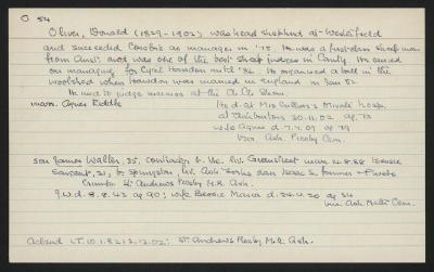 Macdonald Dictionary Record: Donald Oliver