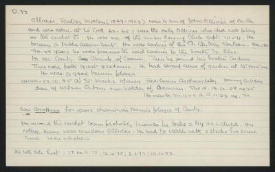 Macdonald Dictionary Record: Walter Morten Ollivier