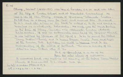 Macdonald Dictionary Record: Herbert Olney