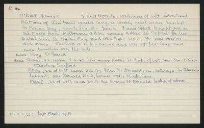 Macdonald Dictionary Record: James O'Neill