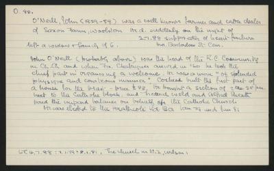 Macdonald Dictionary Record: John O'Neill