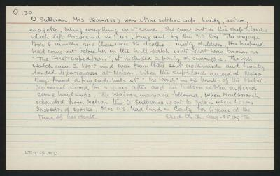 Macdonald Dictionary Record: Mrs O'Sullivan