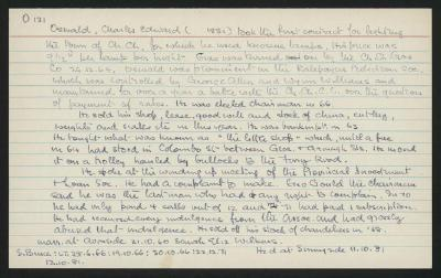 Macdonald Dictionary Record: Charles Edward Oswald