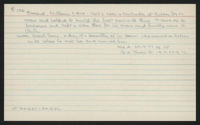 Macdonald Dictionary Record: William Overend