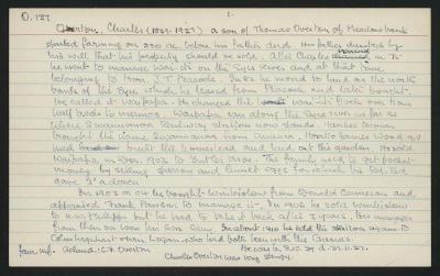 Macdonald Dictionary Record: Charles Overton