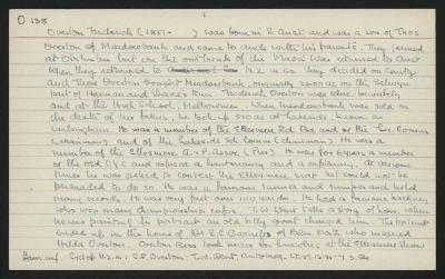 Macdonald Dictionary Record: Frederick Overton