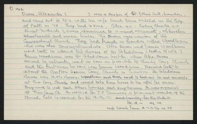 Macdonald Dictionary Record: Alexander Owen