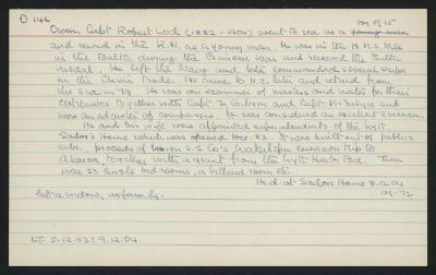 Macdonald Dictionary Record: Robert Lock Owen