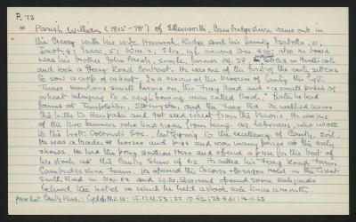 Macdonald Dictionary Record: William Parish