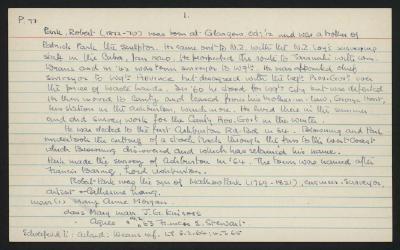 Macdonald Dictionary Record: Robert Park; 1952-1964;
