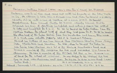 Macdonald Dictionary Record: William Mount Parkerson