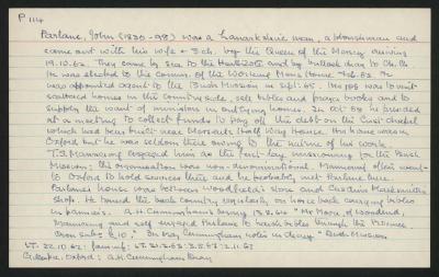 Macdonald Dictionary Record: John Parlane