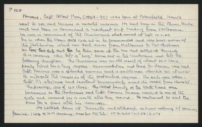 Macdonald Dictionary Record: Albert Parr Parsons