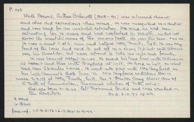 Macdonald Dictionary Record: Arthur Bakewell White Parsons
