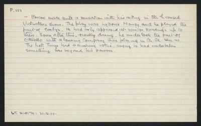 Macdonald Dictionary Record:  Pascoe
