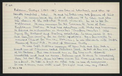 Macdonald Dictionary Record: George Paterson