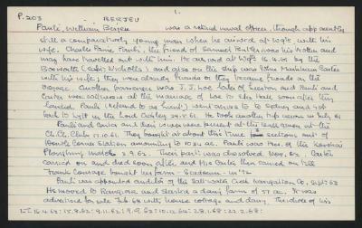 Macdonald Dictionary Record: William Berjeu Pauli
