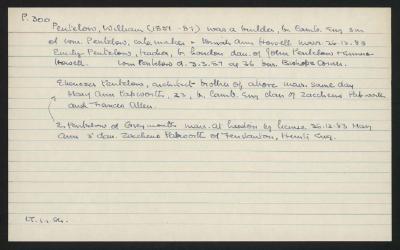 Macdonald Dictionary Record: William Pentelow