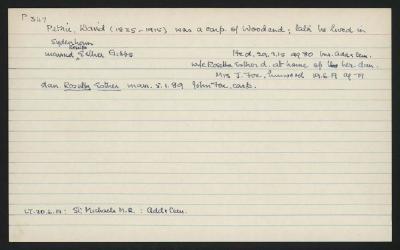 Macdonald Dictionary Record: David Petrie