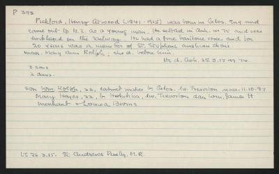 Macdonald Dictionary Record: Henry Atwood Pickford