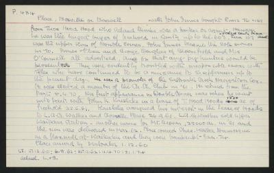 Macdonald Dictionary Record: Boswell or Bosville Place