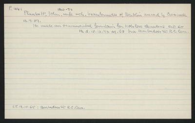 Macdonald Dictionary Record: John Plunket
