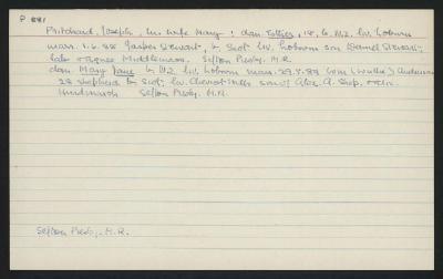 Macdonald Dictionary Record: Joseph Pritchard