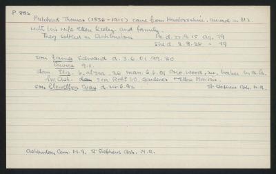 Macdonald Dictionary Record: Thomas Pritchard
