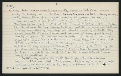Macdonald Dictionary Record: Robert Reay
